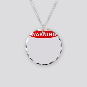 May Contain Wine Warning Necklace Circle Charm