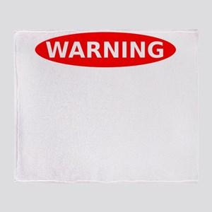 May Contain Wine Warning Throw Blanket