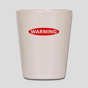 May Contain Wine Warning Shot Glass