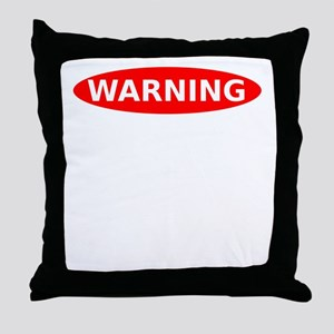 May Contain Wine Warning Throw Pillow