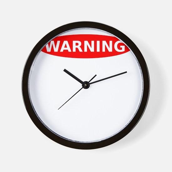 May Contain Wine Warning Wall Clock