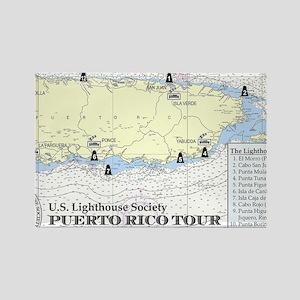 Puerto Rico Lighthouse Tour Rectangle Magnet