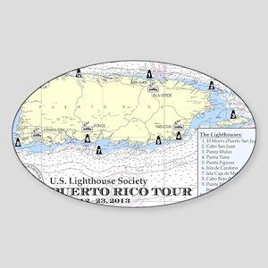 Puerto Rico Lighthouse Tour Sticker (Oval)