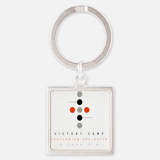 Victory Camp Square Keychain