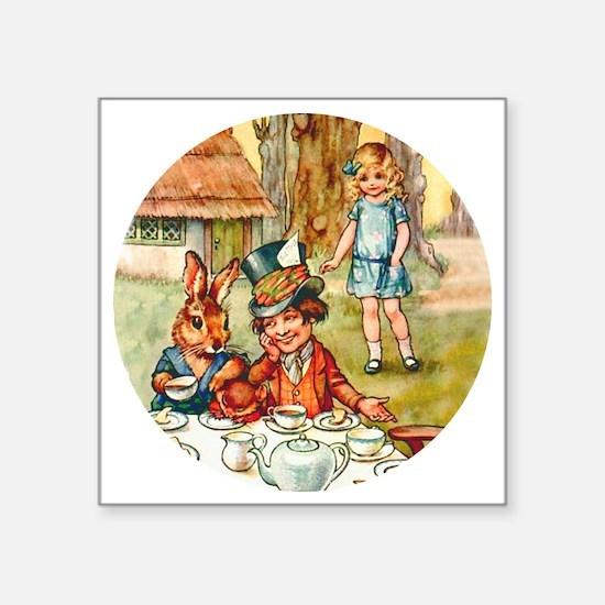 """ALICE TEA PARTY_RD Square Sticker 3"""" x 3"""""""