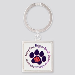 Every Paw Square Keychain