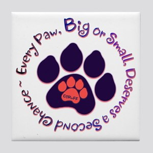 Every Paw Tile Coaster