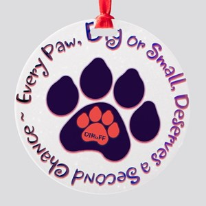 Every Paw Round Ornament