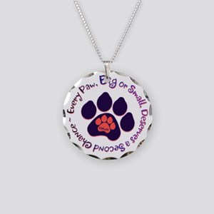 Every Paw Necklace Circle Charm