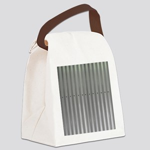 Tin Industrial Metal Shower Curta Canvas Lunch Bag