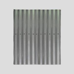 Tin Industrial Metal Shower Curtain Throw Blanket