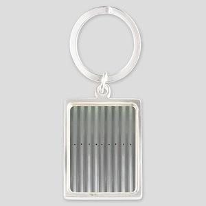 Tin Industrial Metal Shower Curt Portrait Keychain