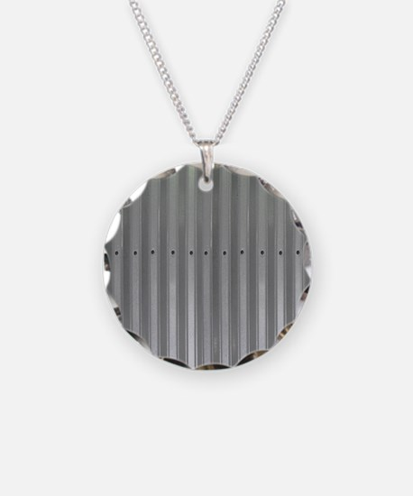 Tin Industrial Metal Shower  Necklace