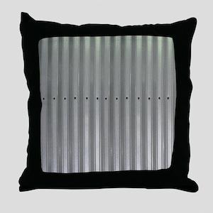 Tin Industrial Metal Shower Curtain Throw Pillow