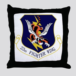 23rd FW Flying Tigers Throw Pillow