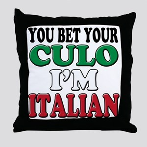 Italian Saying Throw Pillow