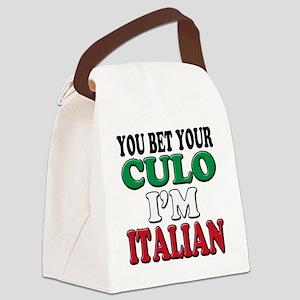 Italian Saying Canvas Lunch Bag