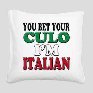 Italian Saying Square Canvas Pillow