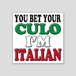 "Italian Saying Square Sticker 3"" x 3"""