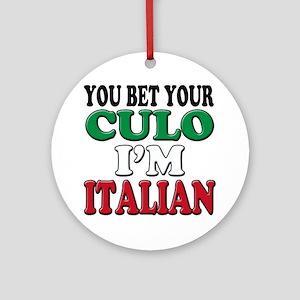 Italian Saying Round Ornament