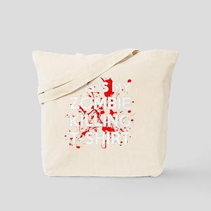 Zombie Killing Shirt Tote Bag