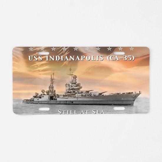 USS Indianapolis Battle Fla Aluminum License Plate
