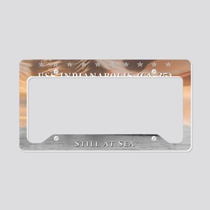 USS Indianapolis Battle Flag License Plate Holder