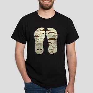 Mustache Pattern Dark T-Shirt