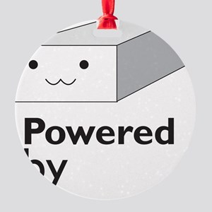 powered by tofu Round Ornament