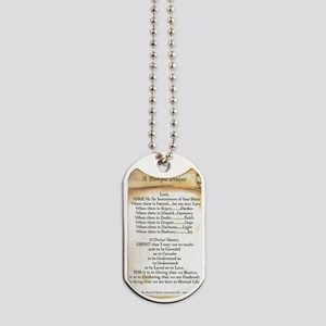 Pope Francis St. Francis SIMPLE PRAYER-Sc Dog Tags