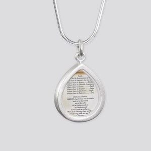 Pope Francis St. Francis Silver Teardrop Necklace