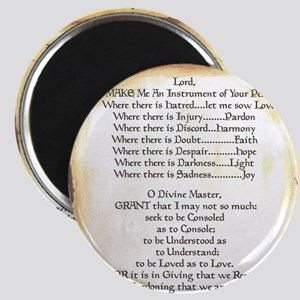 Pope Francis St. Francis SIMPLE PRAYER-Scro Magnet