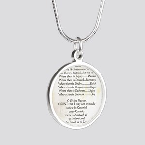 Pope Francis St. Francis SIM Silver Round Necklace