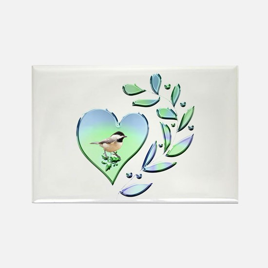 Chickadee Lover Rectangle Magnet