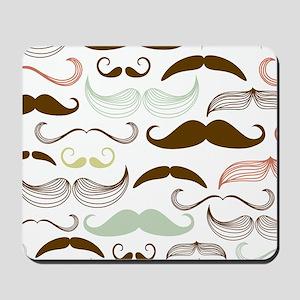 Mustache Pattern Mousepad