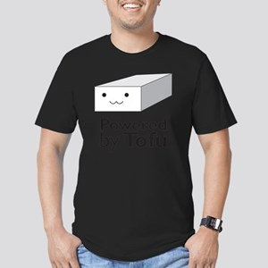 Powered  by Tofu Men's Fitted T-Shirt (dark)