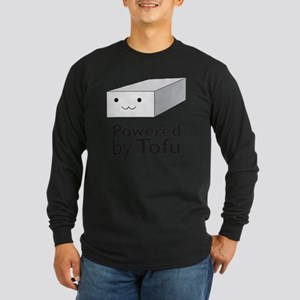 Powered  by Tofu Long Sleeve Dark T-Shirt