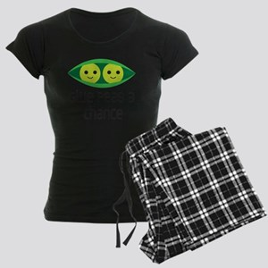 give peas a chance Women's Dark Pajamas