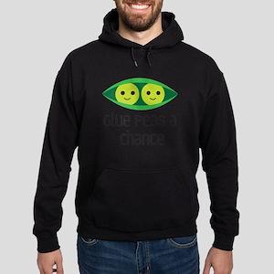 give peas a chance Hoodie (dark)