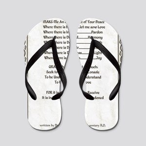 Pope Francis St. Francis SIMPLE PRAYER- Flip Flops