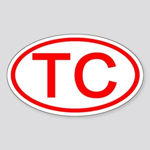 TC Oval (Red) Oval Sticker