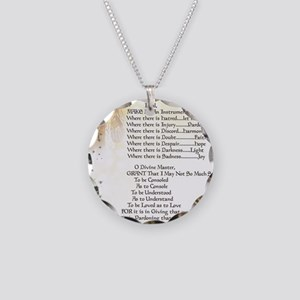 Pope Francis St. Francis SIM Necklace Circle Charm