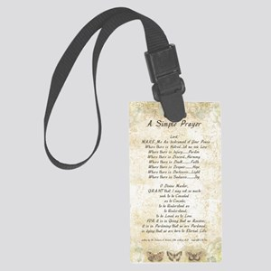 Pope Francis St. Francis SIMPLE  Large Luggage Tag