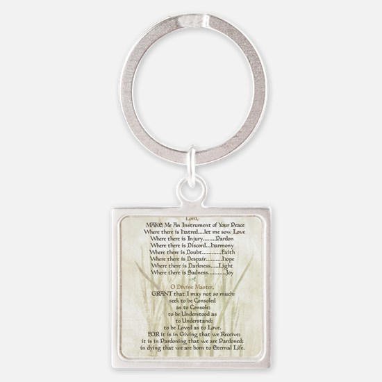 Pope Francis St. Francis SIMPLE PR Square Keychain