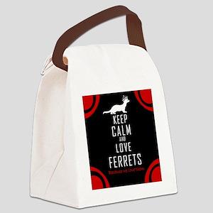 Keep Calm LoveFerrets Throw Pillo Canvas Lunch Bag