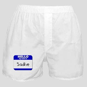 hello my name is sadie  Boxer Shorts