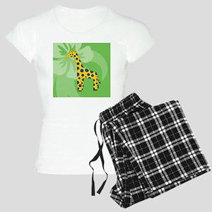 Giraffe Wine Label Women's Light Pajamas