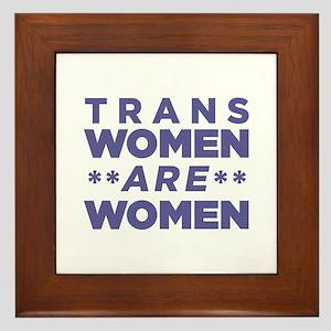Trans Women Are Women Framed Tile