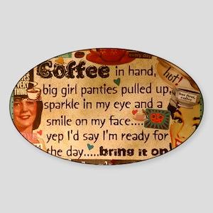 Coffee Love Sticker (Oval)