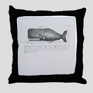Vintage Whale Shower Curtain Throw Pillow
